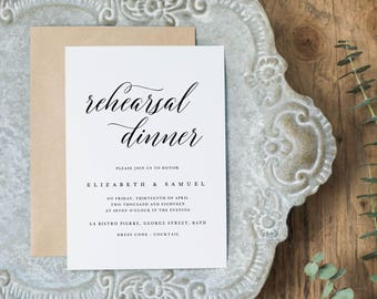Wedding Rehearsal Dinner Printable, Rehearsal Dinner Invitation Template, DIY Rehearsal Dinner Invite Template Instant Download - KPC04_503