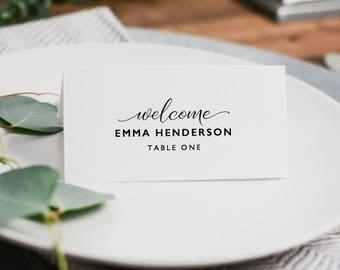 Wedding Place Cards Template Editable DIY