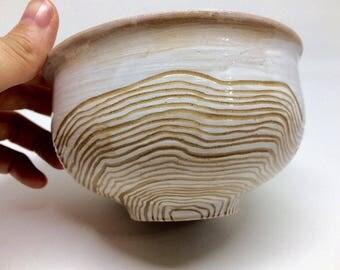 Snow Mountain contour line ,handmade bowl
