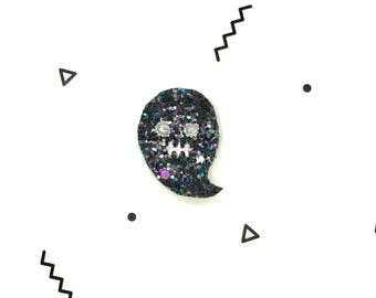 Hand Made sequin ghost pin