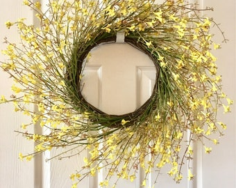 Spring flower wreath, Summer wreath,Spring wreath for front door,Everyday wreath