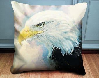 Eagle Cushion - Bald Eagle - Unusual Cushion - Statement Cushion - American Eagle Pillow - Bird Cushion - Bird of Prey - Unusual Decor