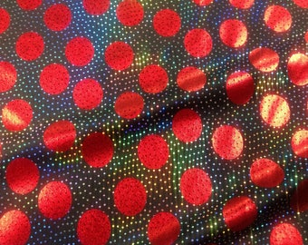 Black and red polka dot 4 wat foil spandex