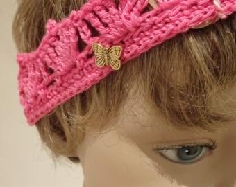 Hot Pink Baby Girls Crochet Crown