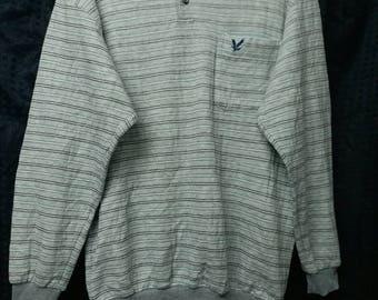 Vintage lyle & scott half button casual sweatshirt M