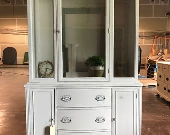 Rustic White Hutch