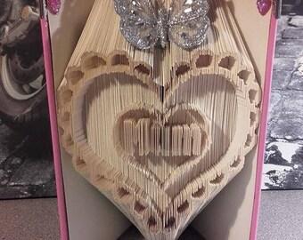 Mum in a fancy heart combination fold