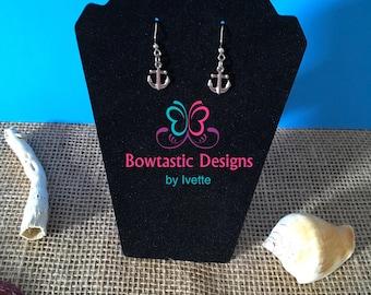 Anchor Earrings, Charm Earrings, Nautical Earrings, Ocean Earrings