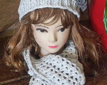 Crochet scarf Beanie set