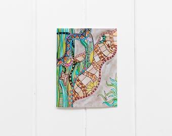 6 Watercolor Saguaro Cactus Notecard Set/6 Card Pack/Desert Notecard Pack/Cacti Greeting Card/ Cactus Print/ Blank Greeting Card Set/CC-05