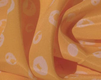 Dairy Yellow Circle Print Fabric - 58 Inches Wide
