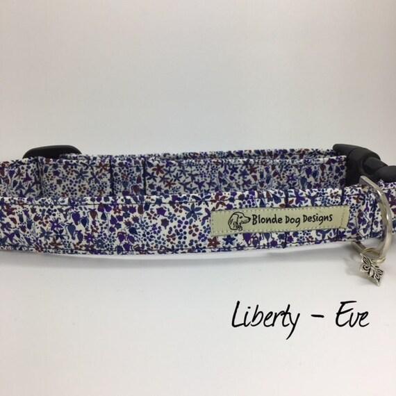 Liberty Dog Collar, Eve, Pretty Dog Collar, Floral Dog Collar, Girl Dog Collar, Luxury Dog Collar, Purple Dog Collar, Liberty Collar.