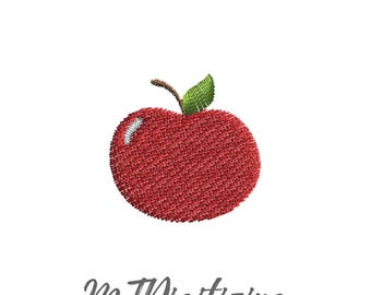 Apple Embroidery Design 1 inch