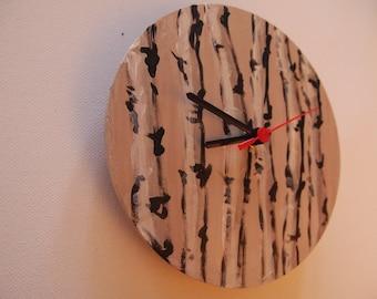 Round hand made wall clock