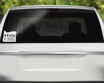 Oregon Roots Decal - Oregon Car Decal -  Pacific Northwest Sticker - OR State - PNW Sticker - Bumper sticker - Vinyl Decal - Car Sticker