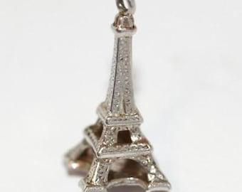 Vintage Eiffel Tower Paris France 800 Silver Bracelet Charm
