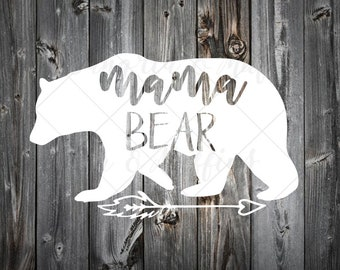 Mama Bear with arrow decal- car decal - window decal - laptop decal - tablet decal - mama bear, boho mama bear, arrow decal, bear decal