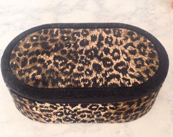 Animal print jewelry box, display and carrier