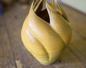 Altered Wheel Thrown Vase