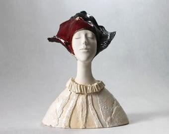Ceramic Sculpture , Fine Art Ceramic , Art Object , Clay Sculpture , Ceramic Art , Ceramic Figurine , Pottery , Ceramic Bust , Handmade