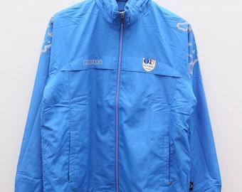 Vintage KAPPA Sportswear Blue Zipper Windbreaker Jacket Size L