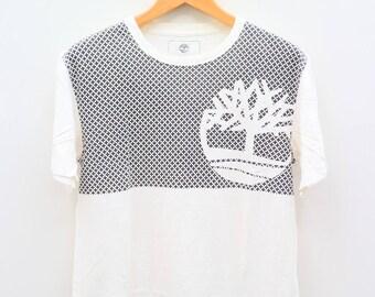 Vintage TIMBERLAND Streetwear Hip Hop White Tee T Shirt