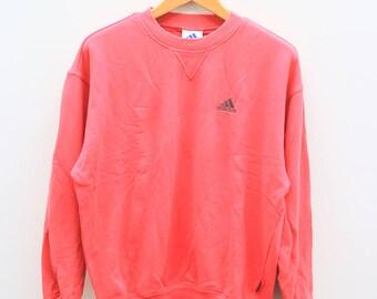 Vintage ADIDAS Triline Sportswear Red Sweater Sweatshirt Size M