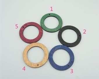 10pcs 44mm Round Wood Pendants,Round Pendants MP005