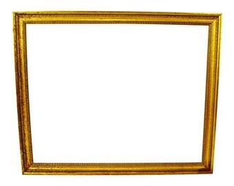 Vintage Gold Gilt Wood Picture Frame 34 x 28
