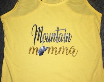 West Virginia girl mom mountain momma tank top country wvu