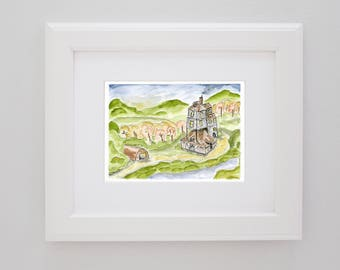 The Weasley Burrow from Harry Potter PRINT