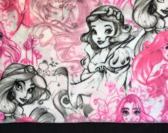 Disney Princess Fleece Blanket/ Jasmine / Snow White/ Rapunzel / Ariel / Princess blanket / disney blanket