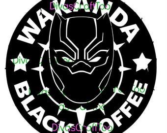 Black Panther Wakanda Coffee SVG