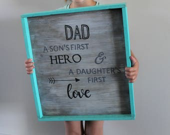Dad Son's Hero Daughters Love Sign
