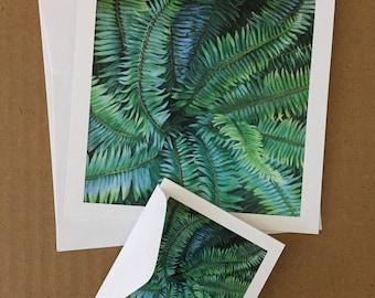Swirling Fern Card