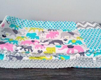 blanket soft elephant minky baby quilt. Tip short plush elephant baby shower gift