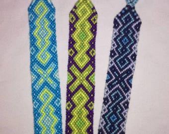 Braided bracelet,Handwoven bracelet,Friendship bracelet, Knotted bracelet, Wrist band,String bracelet, Bracelet bresilien,Summer bracelet