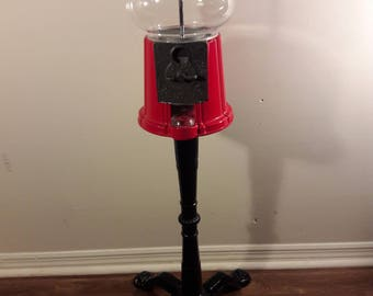 1985 Vintage Carousel King Gumball Machine With Stand