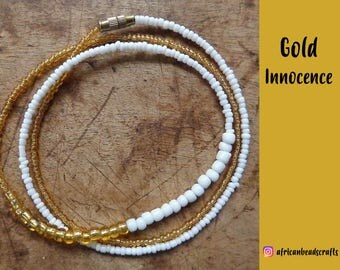 Gold Innocence - Waist Beads - Belly Chain - Belly Beads - African Waist Beads