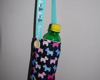Handmade Fabric Bottle Bag, Carrier, Pouch, Sling - Festivals / Parties