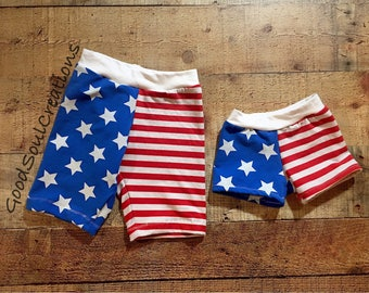 Stars and Stripes Shorts - Made to order
