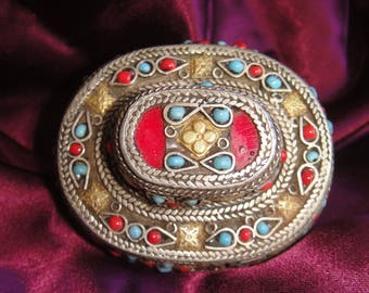 Vintage Afghan 'Kuchi' Double Ring