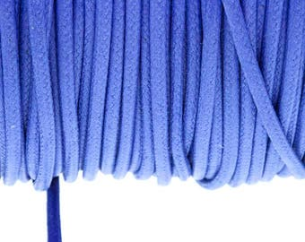 2.7 mm blue electric waxed cotton cord