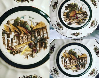 English Rural Scenes Hand painted  Grindley for Princess House
