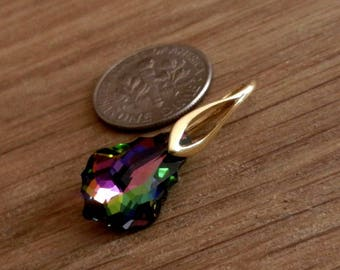 Vermeil, 24k, Gold Over, Sterling Silver, Pinch Bail, for, Pendant