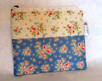 Tilda print notions pouch for embroidery.