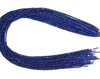 5 Strands / AAA Quality Lapis Faceted Beads (Machine Cut ) / 2.0-2.5 mm / 13.5 Inch
