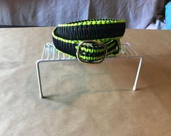 Hand made paracord belt