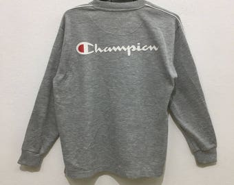 CHAMPION AUTHENTIC ATHLETIC apparel crew sweatshirt big logo spell out sweaters