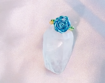 Beauty and the Beast inspired wire wrapped Rose Ring